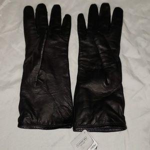 BNWT COACH LEATHER LADIES GLOVES